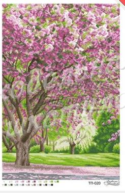 ТП-020 Расцвет сакуры Барвиста Вишиванка схема для вышивки бисером ... bc81a1c68d6de